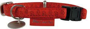 Zolux Obroża regulowana Mac Leather 10 mm - czerwony