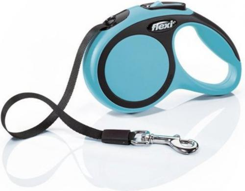Flexi New Comfort Smycz automatyczna XS taśma 3m Niebieska