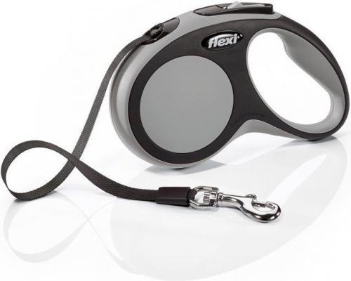 Flexi New Comfort Smycz automatyczna S taśma 5m Szara