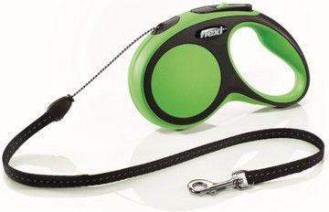 Flexi New Comfort Smycz automatyczna S linka 8m Zielona