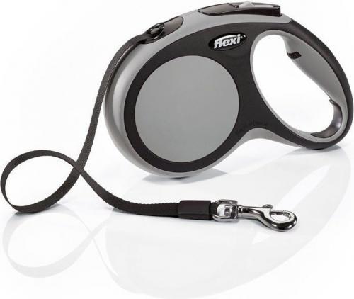 Flexi New Comfort Smycz automatyczna M taśma 5m Szara