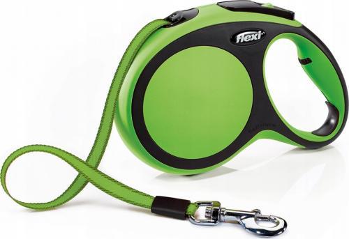 Flexi New Comfort Smycz automatyczna L taśma 8m Zielona