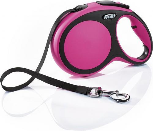 Flexi New Comfort Smycz automatyczna L taśma 8m Różowa