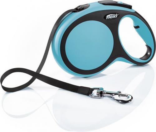 Flexi New Comfort Smycz automatyczna L taśma 8m Niebieska