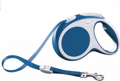 Flexi Vario Smycz automatyczna XS taśma 3m Niebieska