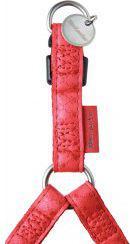 Zolux Szelki regulowane Mac Leather 15 mm - czerwony