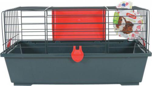 Zolux Klatka CLASSIC 58 cm kol. szary/czerwony