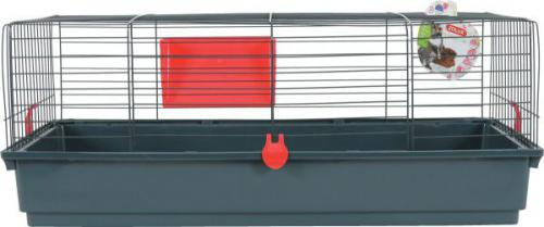 Zolux Klatka CLASSIC 100 cm kol. szary/czerwony
