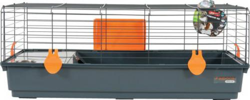 Zolux Klatka INDOOR 100 cm kol. szary/pomarańczowy