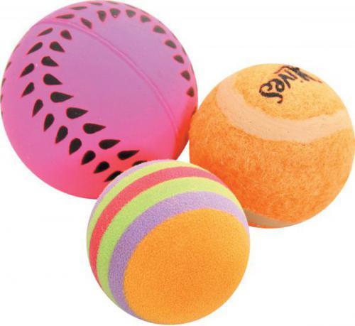 Zolux Zabawki dla kota 3 piłki różne 4 cm