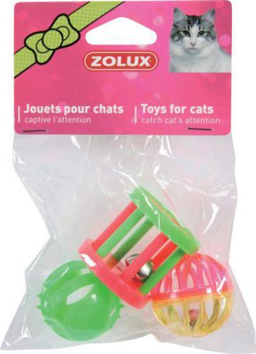 Zolux Zabawka dla kota - zestaw 3 zabawek różnych 4 cm