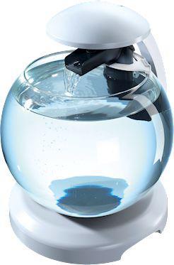 Tetra Cascade Globe White - Szklana kula z filtrem biała