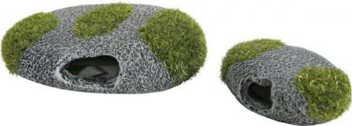 Dekoracja omszony kamień średni x2