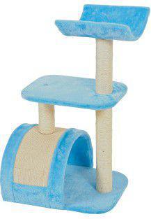 Zolux Drapak dla kota WAVE M,  niebieski