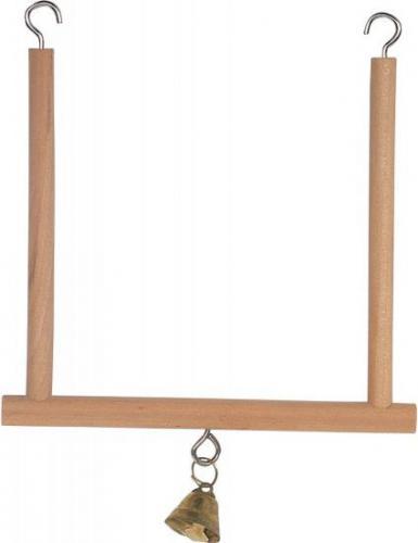 Zolux Huśtawka drewniana z dzwonkiem