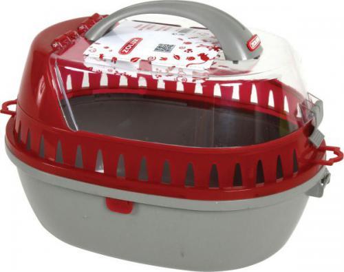 Zolux Transporter dla gryzoni średni 250x360x260 mm kol. czerwony