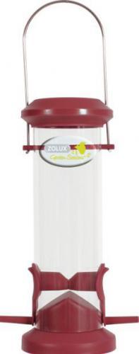 Zolux Karmnik plastikowy Silo - 2 żerdki czerwony