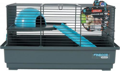 Zolux Klatka INDOOR 40 cm dla myszki kol. szary/niebieski
