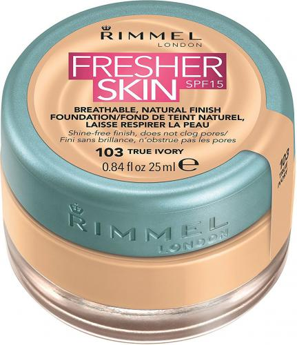 Rimmel  Fresher Skin Foundation SPF15 103 True Ivory 25ml