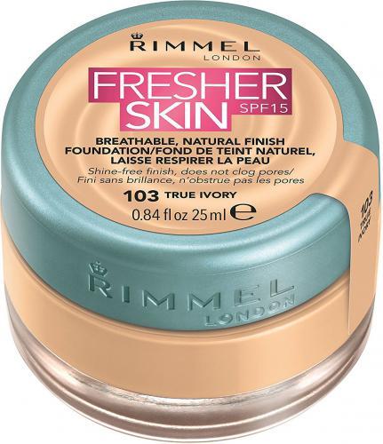 Rimmel  Fresher Skin Foundation SPF15 103 True Ivory 25ml