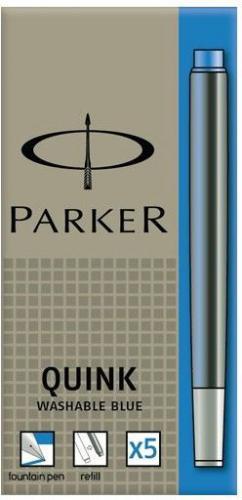 Parker naboje zmywalne niebieskie 5 szt. (1950383)