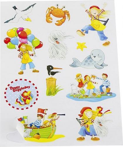 Goki Naklejki dla dzieci z piratami Peggy Diggledey (60765)