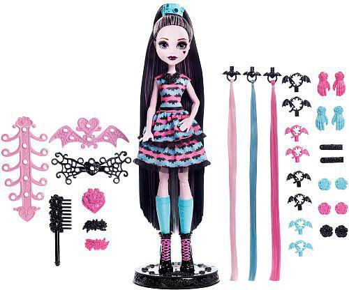 Mattel Monster High wampistyczne fryzury Draculaury (DVH36)