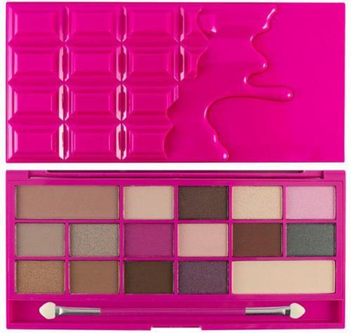 Makeup Revolution I Heart Makeup Palette Zestaw cieni do powiek Chocolate Love 22g (16 kolorów)