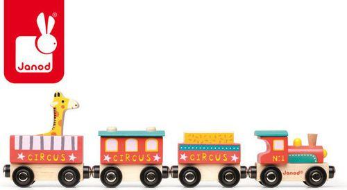 Janod Cyrk pociąg drewniany (J08530)