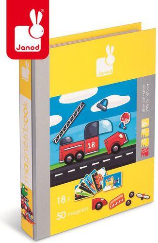 Janod Magnetyczna układanka Pojazdy Magnetibook, Janod  - J05548