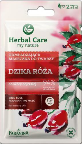 Farmona Herbal Care Maseczka odmładzająca Dzika Róża - saszetka 5ml x 2