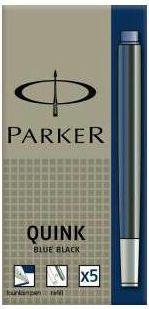 Parker naboje niebiesko-czarne 5 szt. (1950385)