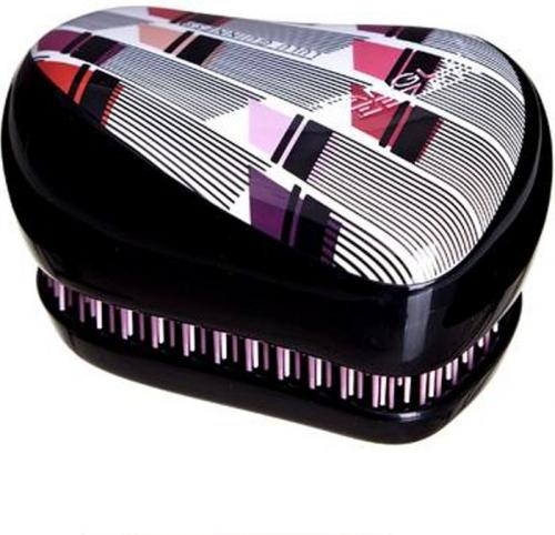 Tangle Teezer Compact Styler Hairbrush by Lulu Guenness Vertical Lipstick Print