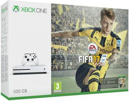 Konsola Microsoft Xbox One S 500GB + Fifa 17 + XBL 6 M-cy + 1M EA Access (ZQ9-00056)
