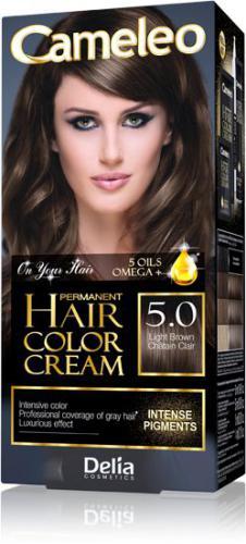 Delia Cameleo HCC Farba permanentna Omega+ nr 5.0 Light Brown 1op.