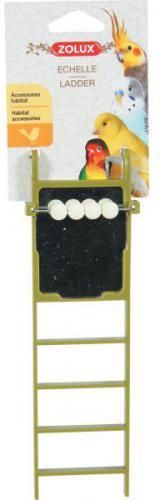 Zolux Drabinka plastikowa z lusterkiem, różne kolory