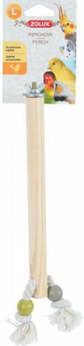 Zolux ZOLUX Drewniana żerdka ze sznurkiem L