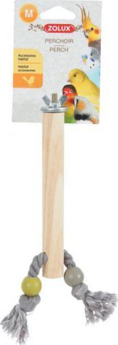 Zolux ZOLUX Drewniana żerdka ze sznurkiem M