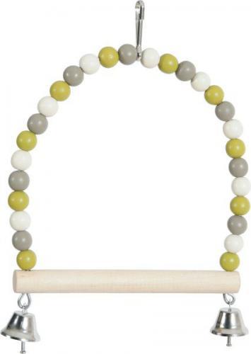 Zolux ZOLUX Huśtawka perła z drewnianą żerdką i dzwoneczkami