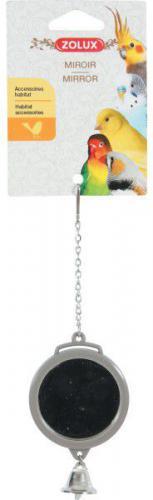 Zolux Lusterko okrągłe z dzwoneczkiem, na łańcuszku