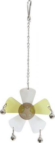 Zolux Zabawka akrylowa kwiat z dzwoneczkami, na łańcuszku