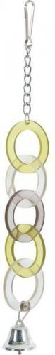 Zolux Zabawka akrylowa pierścienie z dzwoneczkiem, na łańcuszku