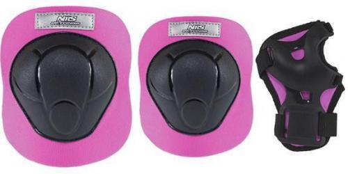 NILS Extreme H210 czarno-różowy rozm.XS zestaw ochraniaczy (16-60-021)