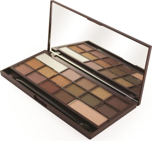 Makeup Revolution I Heart Makeup Palette Zestaw cieni do powiek Chocolate Golden Bar 22g (16 kolorów)