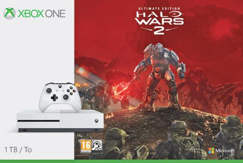Konsola Microsoft Xbox One S 1TB + Halo Wars 2 Ultimate Edition (234-00136)