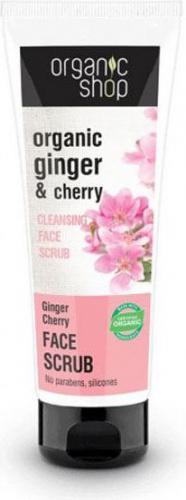 Organic Shop Oczyszczający peeling do twarzy - Wiśnia i imbir 75ml