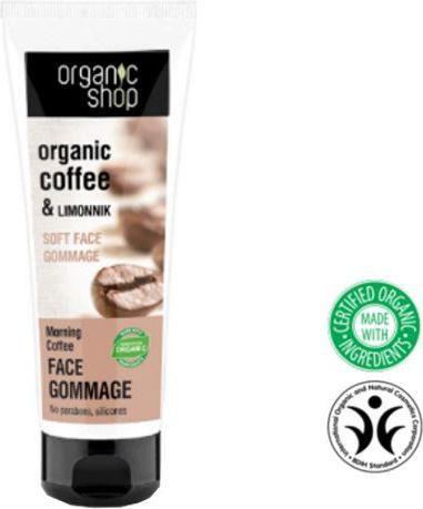 Organic Shop Delikatny peeling do twarzy Poranna kawa 75ml