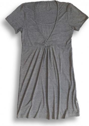 Nanaf Organic Bambusowa koszula nocna - ciemnoszary melanż S (NC-001S)