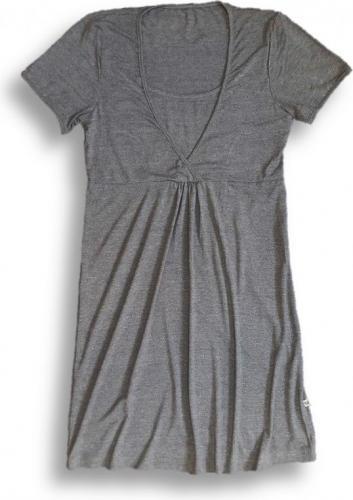 Nanaf Organic Bambusowa koszula nocna - ciemnoszary melanż XL (NC-001XL)
