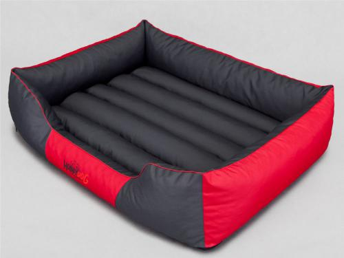 HOBBYDOG Legowisko Comfort - Czerwono-szare L